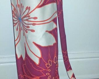 Flower Burst! Embroidered large yoga mat bag