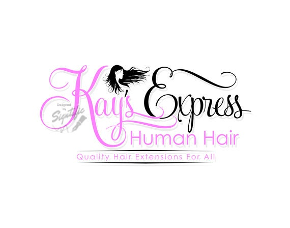 hair tag logo hair silhouette logo design hair extensions