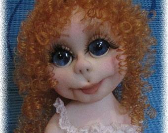 "Soft sculpture textile Doll ""Ballerina"", Merry Christmas doll, doll, Christmas"