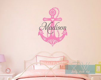 Nautical Wall Decal Name Wall Decal Nursery Wall Vinyl Decals