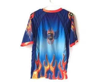 Fire Flaming T-shirt Top