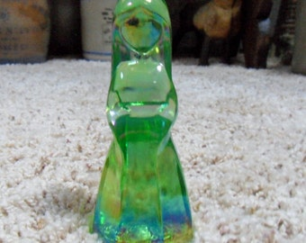 "Vi Hunter Mosser Glass Jenny Doll Figurines - Color ""Sea Breeze"" dated 1980"