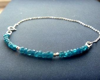 Silver bracelet Apatite Yoga
