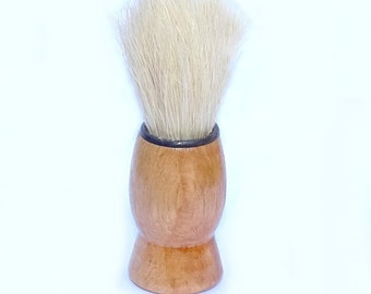 Genuine Army Surplus Small Shaving Brush Natural Bristle Wooden Handle Vintage Retro