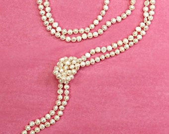 Freshwater Endless Baroque 100 Inch Knotted Pearl Necklace