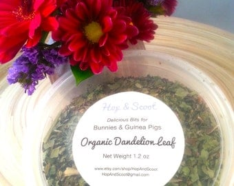 Organic Dandelion Leaf (1.2 oz) for Bunnies & Guinea Pigs