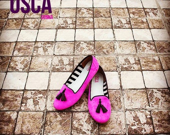 SALACIA Pink Suede Loafers