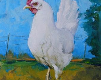 Prints of white hen #8