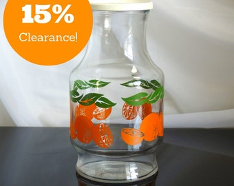 Anchor Hocking Orange Juice Carafe with Lid CLEARANCE
