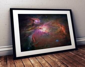 Orion Nebula Wall Metallic Art Print