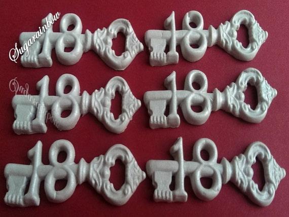 Edible Cake Decorations For 18th Birthday : 6 keys 18th birthday party edible sugar decorations cake