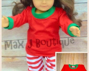 Doll Christmas Pajamas - American Girl Doll Pjs