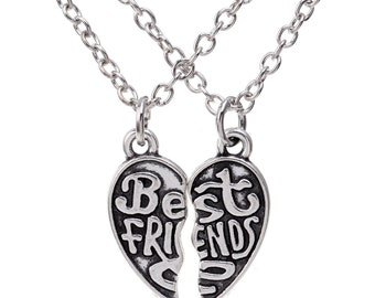 HYNX2850/2851/2852 Free Shipping Best Friend Long Heart Necklace in Silver color Gift Box packing