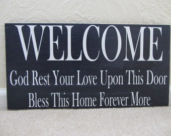 "Wooden ""Welcome"" Sign"