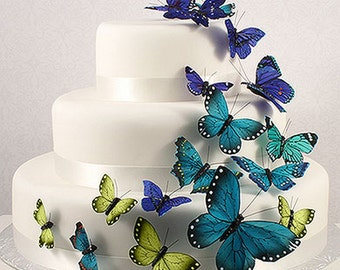 Stunning Butterfly Collection for Wedding Cake Decoration, Craft, DIY Project, Floral Display -  Pack of 24
