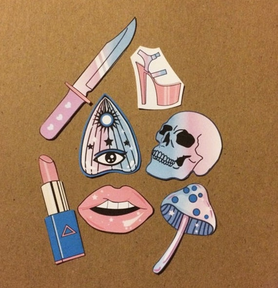 Pastel Goth On Tumblr: Girly Witch Pastel Goth Stickers Tumblr Style