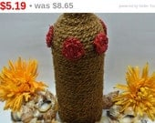 Hand Crafted Wine bottle Vase, Wine Bottle Art using Coconut Rope, Discount / Sale upto 25% OFF