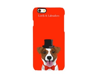 Phone Case: Red & Jack Russell