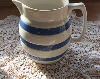 1960's Chef Ware Staffordshire Blue and White Jug.
