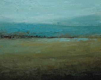 Deeper. 8X8 original tonalist landscape oil painting from Timber Trail Arts.