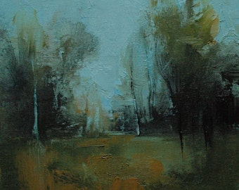 Goodness. 10X10 Original tonalist landscape oil painting from Timber Trail Arts