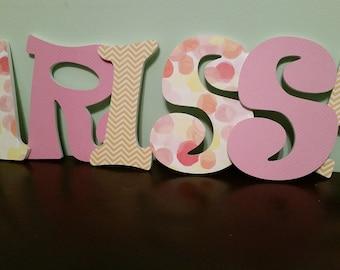 Girls Wooden Letters, Girls Nursery Letters, Wall Decor, Girls Room, Nursery Art, Girls Wall Art, Girls Nursery, Pink Baby Room