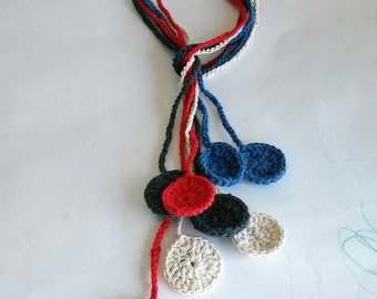Handmade crochet necklace, crochet necklace, crochet jewelry, handmade necklace, Crochet