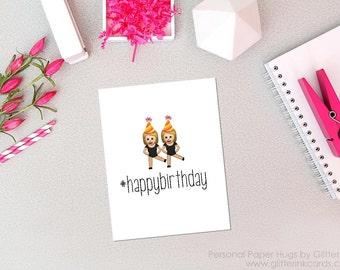 Emoji Happy Birthday Card - Birthday Card for Friend