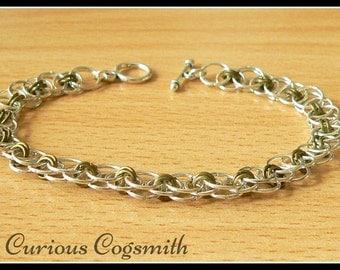 Bronze Helm weave Chain Mail Bracelet - Chainmail Bracelet - Chain mail Bracelet - Toggle clasp Bracelet