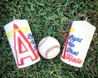 Los Angeles Angels of Anaheim Halo Candle