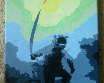 Diver on 8x10 canvas Acrylic