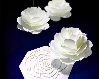 Pop-up message card [rose] Pop up Card Rose