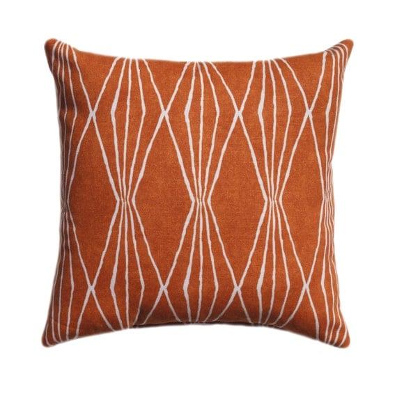 Orange Decorative Bed Pillows : Orange Pillow Decorative Throw Pillow Cover Orange Pillow