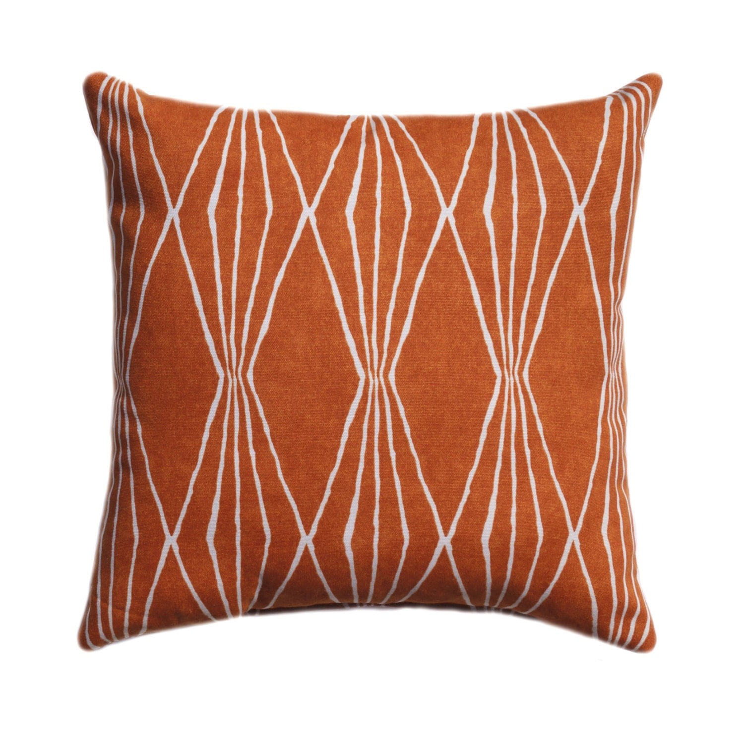 Orange Pillow Burnt Orange Pillow Cover by ThePillowCoverStore