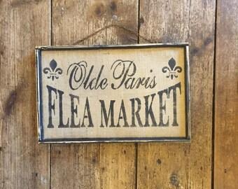 Olde Paris Flea Market Sign Free Shipping