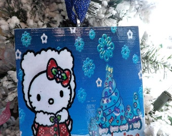 Personalized Hello Kitty Christmas Ornament