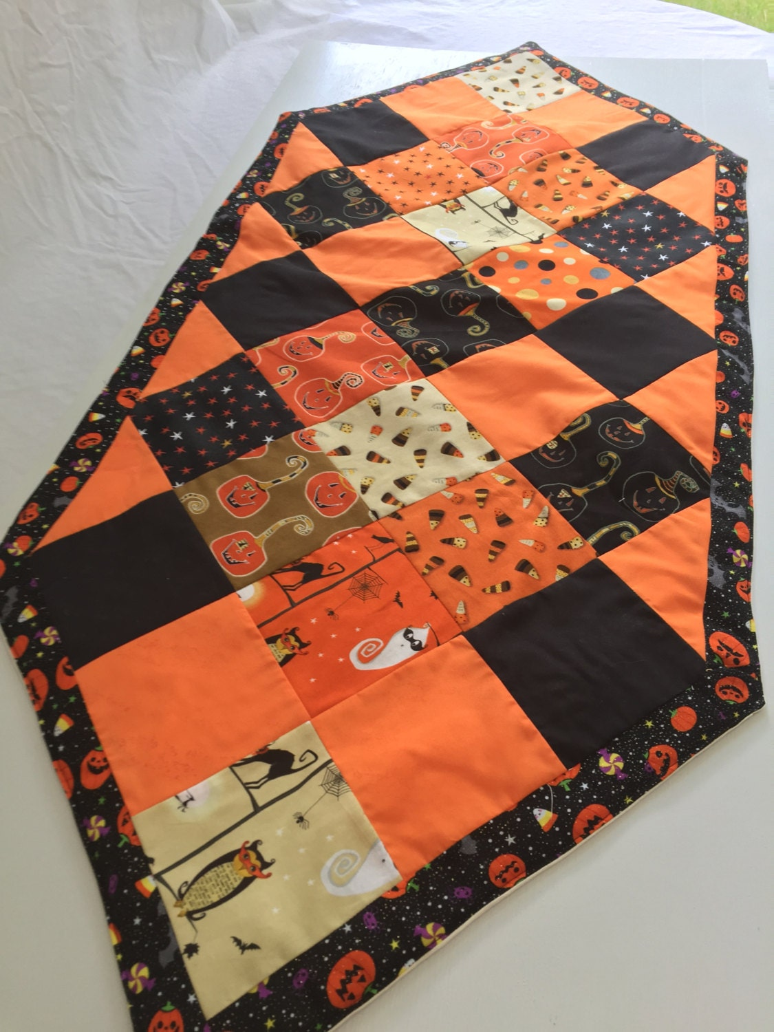 halloween party decor patchwork table runner gallery photo gallery photo gallery photo