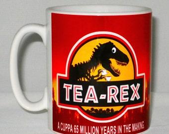 Tea - Rex Cuppa Mug Can Be Personalised Funny Jurassic Park Dinosaur Film Parody Gift