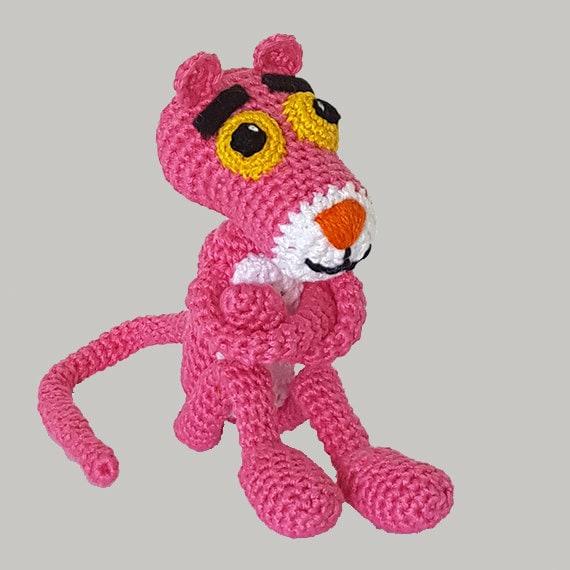Amigurumi Free Pattern Pink Panther : FREE SHIPPING/Crochet Pink Panther. Amigurumi crochet toy.