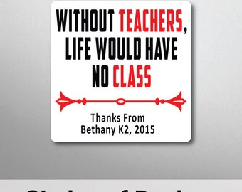 Personalised Teacher Quote Magnet