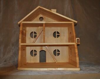 Wood doll house - wooden dollhouse - wood fairy house - gnome house - handmade dollhouse - Toy wooden house - handmade doll house