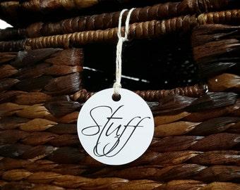 Custom printed label tags, mason jar tags, basket tags, organization tag, things stuff tags, custom gift tags, personalized favor tags