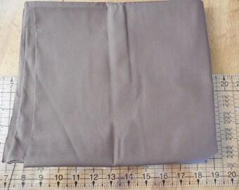 Destash- Dark Brown Cotton Broadcloth Fabric Remnant