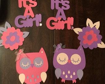 Babyshower Owl Centerpieces