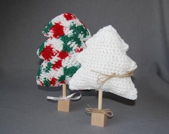 Christmas trees ~ Set of two ~ Crochet