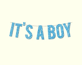 """Baby Shower """"IT'S A BOY"""" Banner - Digital Printable Instant Download"""