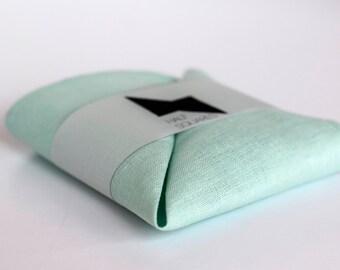 Pocket square mint green - men spring fashion trends - gift idea for him accessory - mint handkerchief - mint pocket square - mint wedding