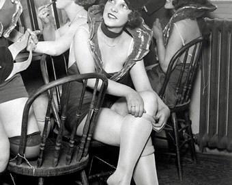 Showgirls Backstage, 1926. Vintage Photo Digital Download. Black & White Photograph. Theater, Vaudeville, Chorus Girls, Dancers, 1920s, 20s.