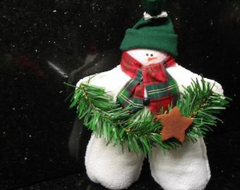 Star Snowman, Standing Star Snowman, Fabric Snowman