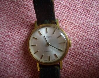"""Tissot Switzerland """"Stylist"""", women's Vintage watch, leather strap,"""